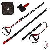 Gym Goat® Schlingentrainer Set - Premium Sling Trainer mit Nummerierungen zum einfachen Verstellen der Gurte - Slingtrainer für das ultimative Ganzkörpertraining