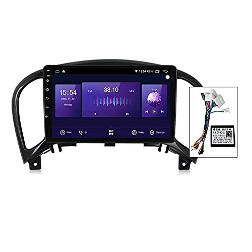 9'' Android 10.0 Radio Coche Bluetooth Carplay Incorporado Para Nissan Juke YF15 2010-2014,Autoradio Coche Soporte 5Ghz Wifi GPS Mandos De Volante Cámara Trasera 1280 * 720P Enlace Espejo,B,6G+128G