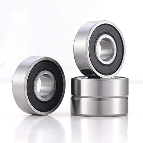 "4 Pack 99502H Bearings, 99502H Sealed Ball Bearing, Pre-Lubricated Ball Bearing 5/8""x1 3/8""x7/16"" inch"