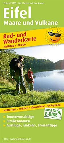 Eifel, Maare und Vulkane 1 : 50 000: Rad- und Wanderkarte mit Ausflugszielen, Einkehr- & Freizeittipps, wetterfest, reissfest, abwischbar, GPS-genau. 1:50000