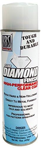 KBS Coatings 8114 Clear High Gloss Diamond Finish Clear Aerosol, Covers 35 sq ft