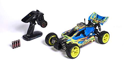 Carson 500707141 1:10 CV10 Stormracer Pro2,4G GP RTR blau, Ferngesteuertes Auto, Fahrzeug, Benzinmotor, inkl. Batterien und Fernsteuerung, Geschwindigkeit bis zu 55 km/h, RC-Benziner