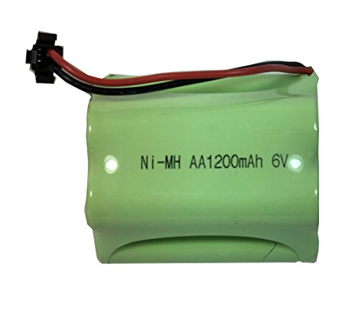 6V 1200mAh Ni-Mh AA Rechargeable Battery Pack with SM 2P Plug