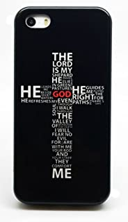 Jesus Christ Christian Cross Quote Religious Black Background Phone Case Cover - Select Model (Galaxy Note 5)
