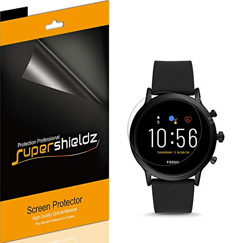 (6 Pack) Supershieldz for Fossil Gen 5 Smartwatch Carlyle HR Screen Protector, High Definition Clear Shield (PET)
