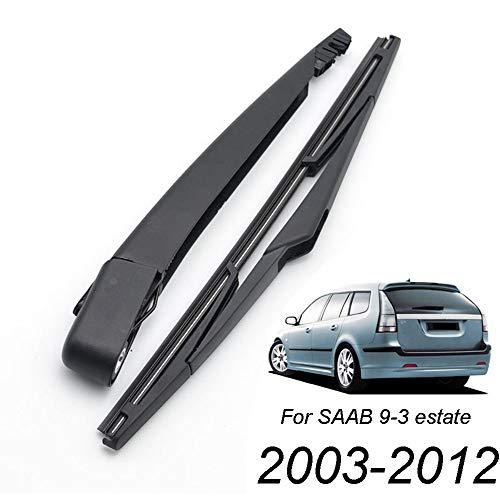 Xukey - Juego de limpiaparabrisas trasero y brazo para 9-3/9.3 Estate MK2 2003-2012 (1 juego)