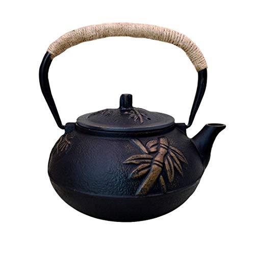 Amayay Klassische Reine Handarbeit Teekanne Von Eisen Eisen Asiatische Teekanne Aus Einfacher Stil Gusseisen Traditionelle Eisen Kanne In Japanischem Stil 900Ml Asia Japan Style Teesieb