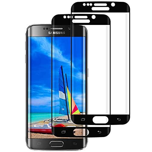 DOSMUNG Cristal Templado para Samsung Galaxy S6 Edge, [2 Pack] Vidrio Templado de Samsung S6 Edge, Cobertura Completa/Dureza 9H/3D Curvado/Anti Arañazos Protector de Pantalla para Galaxy S6 Edge
