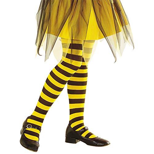 Widmann 01240 Strumpfhose Biene, 70 DEN, Mädchen, Schwarz/Gelb, 4-6 Jahre