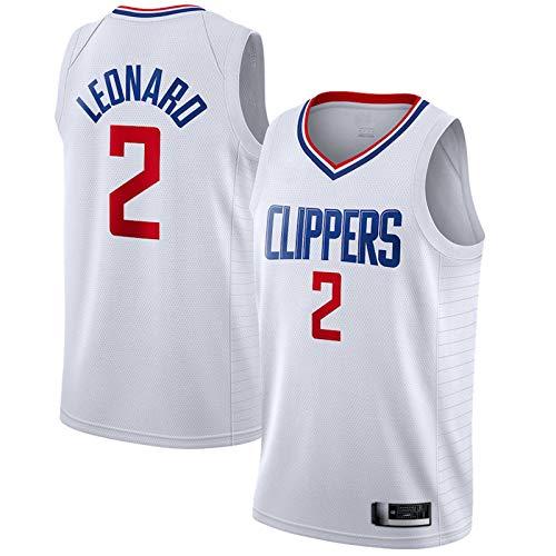 Malla Jersey Deporte Chaleco Top Sin Mangas Camiseta Baloncesto Jersey #2 Secado Rápido Competición Jersey para Hombre - Blanco