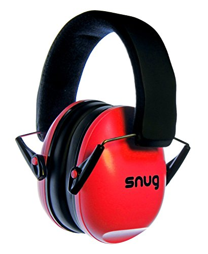Snug Kids Ear Protection - Noise Cancelling Sound Proof Earmuffs/Headphones for Toddlers, Children & Adults (Red)