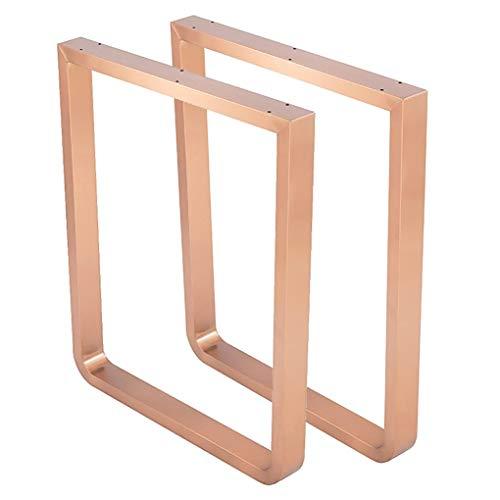 H-LEGS Hardware - Möbel Metall Tischbeine, Esstisch, Schreibtisch Möbelbeine, U-Form Edelstahl Beine 2pc Einzigartig, Modernes DIY Erschwinglich