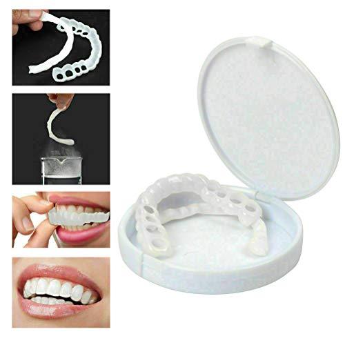 Auplew Zähne Prothese Zähne Kosmetik 1 Paar Temporär Lächeln Komfort Fit KosmetikAufkleber Teeth Denture Cosmetic Provisorischer Zahnfüllung