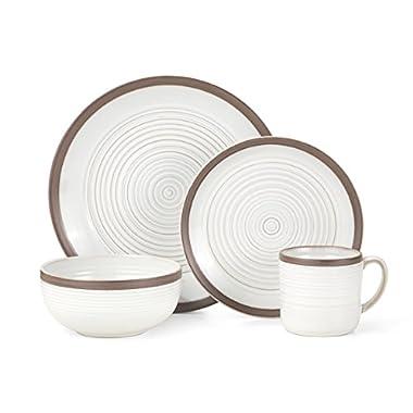 Pfaltzgraff Carmen Brown 16-Piece Stoneware Dinnerware Set, Service for 4