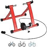 Cacoffay Pieghevole Home Trainer Biciclette e Smart Home Trainer della Bicicletta a 24in-28in con Un Pulsante di Controllo per sgancio rapido Supporto al Rotolo