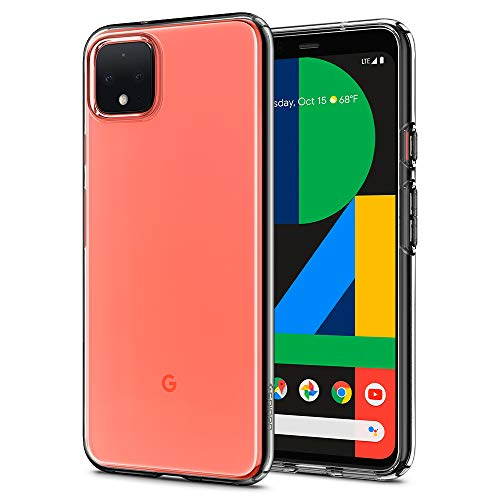 Spigen Liquid Crystal Kompatibel mit Google Pixel 4 XL Hülle, Transparent TPU Silikon Handyhülle Durchsichtige Schutzhülle Hülle Crystal Clear F25CS27548