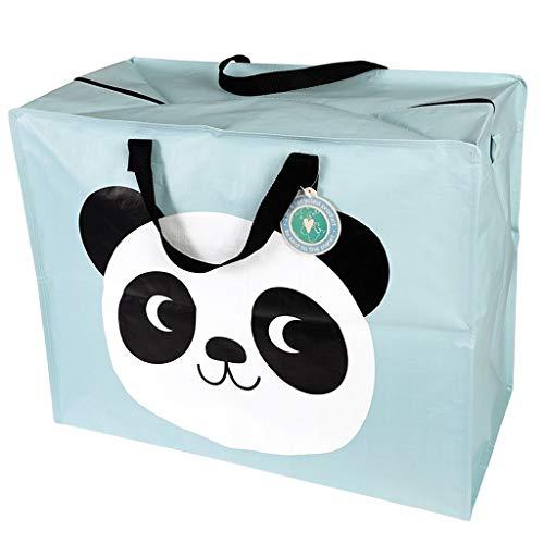 LS-LebenStil XXL Jumbo Bag Panda Bär Blau 55x48x28cm Recycled Allzweck-Tasche