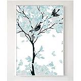 DMPro Nordischen Stil Mintgrün Abstrakt Baum Dekorative Gemälde Modulare Bild Wandkunst Leinwand Malerei Wohnzimmer 40x60cmx2 / kein Rahmen