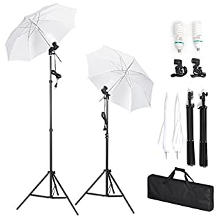 Amzdeal Paraguas Fotografía Kit de Iluminación Continua para Estudio Fotográfico, 2x 135W Bombillas, 2x Trípodes de Lámpara, 2x Paraguas (B00F8F5VLA) | Amazon price tracker / tracking, Amazon price history charts, Amazon price watches, Amazon price drop alerts