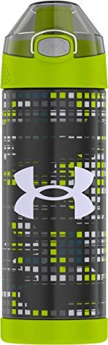 Under Armour Protege Botella de hidratación de acero inoxidable con aislamiento al vacío, 473 ml, con rejilla rota