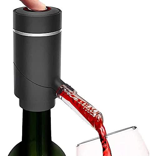 QAWSED Bomba De Vino Aireador De Vino Eléctrico, Aireador De Vino Eléctrico Con Tapón De Bomba De Vacío, Decantador Automático Electrónico Multifuncional Para Vino Tinto Vertedor D