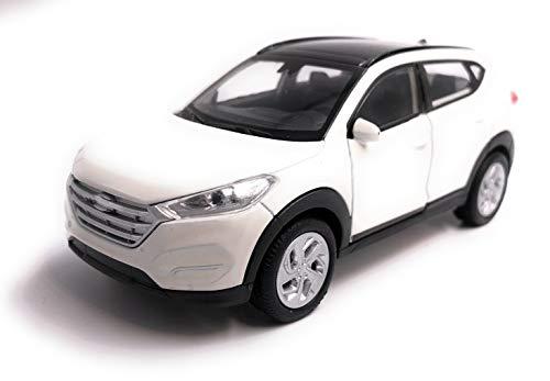 H-Customs Hyundai Tucson Modellauto Auto Lizenzprodukt 1:34-1:39 Weiß