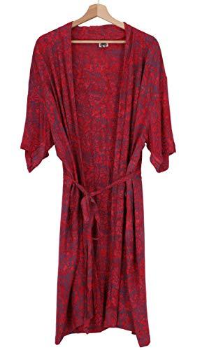 Guru-Shop, Lichte Zomerkimono, Cape, Strandjurk met Mandala-patroon, Veelkleurig, Synthetisch, Size:18, Blouses Tunieken