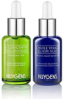 The Day & Night Duo HUYGENS - 2 Face Concentrates - Day Revitalizing Concentrate and Night Repair Oil - All skin types - O...