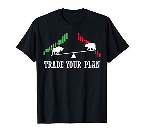 Camiseta Hombre Mujer Trade your Plan Trading Regalo Trader Camiseta