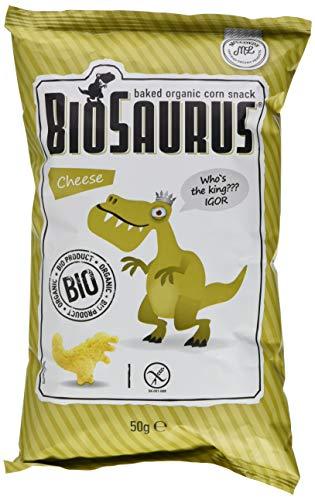 Organique BioSaurus Käse Igor, der knusprige Maissnack, 6er Pack (6 x 50 g)
