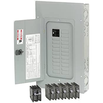 Load Center 125 Amp 12 Space 24 Circuit Indoor Main Lug Breaker Panel Eaton BR