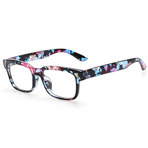 Rnow - Gafas Premium unisex estilo retro, moda en óptica, con montura cuadrada