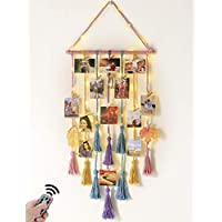 Homecor Wall Hanging Photo Display with Remote String Light
