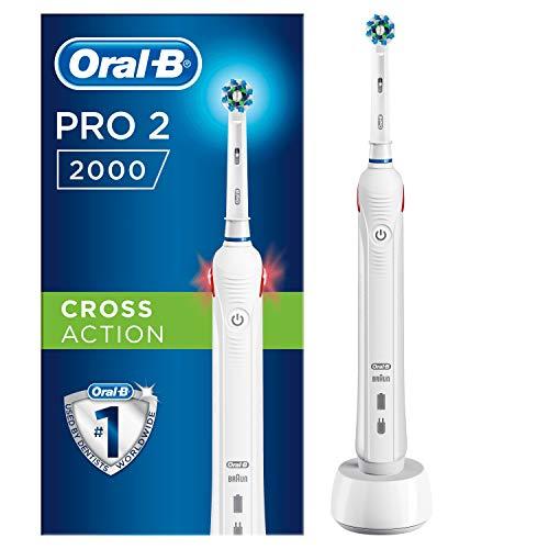 Oral-B Pro 2 2000 Spazzolino Elettrico Ricaricabile, 1 Manico...