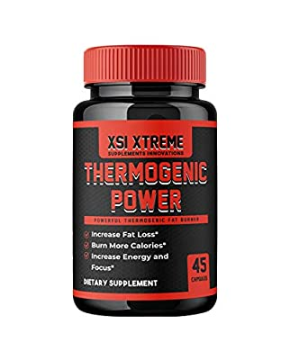 Thermogenic Power Fat Burner to Enhance Fat Loss, Energy, Focus, and Support Appetite Supression - 45 Ultra Concentrated Capsules - Maximum Strength Thermogenic Powerhouse