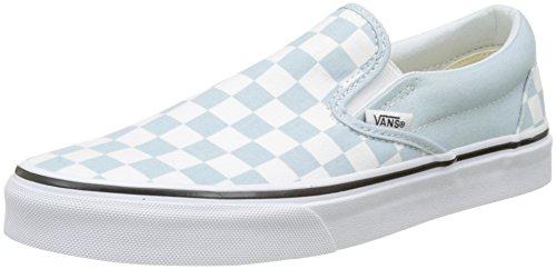 Vans Women's Classic Slip-On¿ Slip On Trainers, (Checkerboard) Baby Blue/True White, 6.5 Women / 5 Men M US