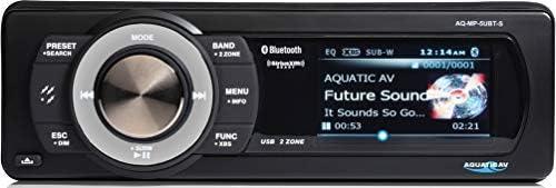 Aquatic Av AQ MP 5UBT S Waterproof Marine Digital Media Receiver with Dock Bluetooth USB and product image