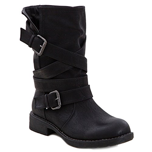 Toocool - Chaussures de moto pour femme, en cuir...