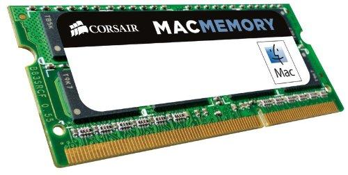 Corsair Mac Memory - Memoria para Apple Mac de 8 GB (1 x 8 GB, DDR3, SODIMM, 1600 MHz, CL11, certificada por Apple) (CMSA8GX3M1A1600C11)