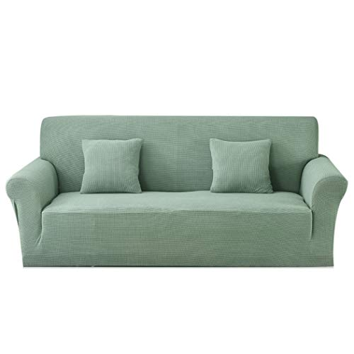 Carvapet Funda de sofá de Tela Jacquard de Punto elástico para Sala de Estar Protección de Muebles (4 plazas, Turquesa)