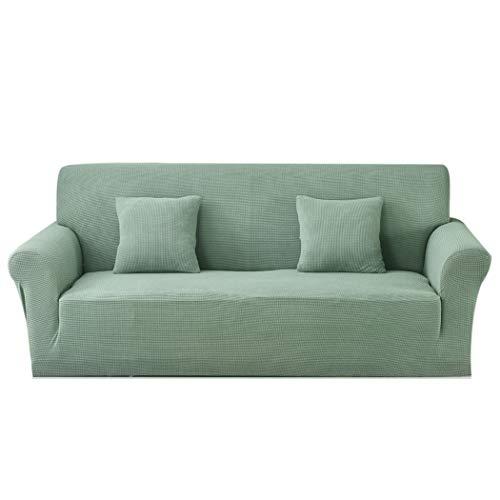 Carvapet Funda de sofá de Tela Jacquard de Punto elástico para Sala de Estar Protección de Muebles (3 plazas, Turquesa)
