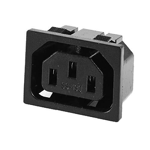 X-DREE IEC320 C13 Adaptador alto rendimiento hembra de montaje esencial en panel negro Bie_n hecho AC 250V 10A(557-f9-fb-3ae)