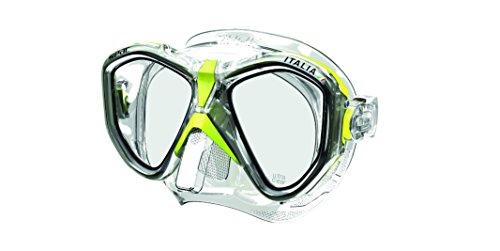 SEAC 750040 Máscara de Diseño Italiano, Adultos Unisex, Transparente/Amarillo, Asian fit