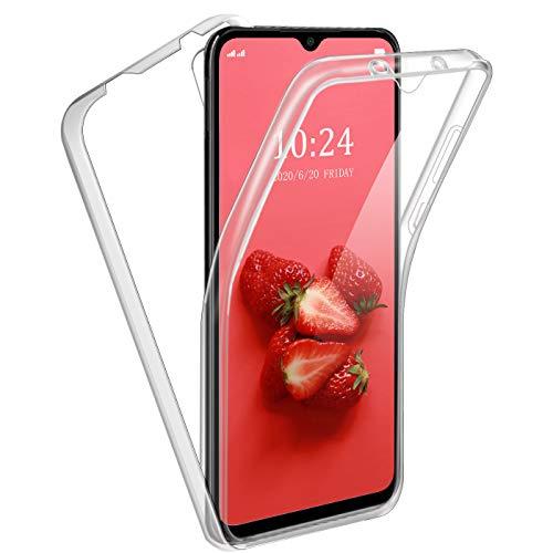 Funda para Xiaomi Redmi 9A, 360°Full Body Protección Suave TPU Silicona Delantero PC Dura Atrás Transparente Flip...