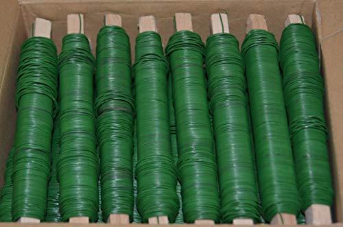 Lot de 25 rouleaux de fil vert pour fleurs et ligatures 0,65 mm 100 g par rouleau Total 2,5 kg