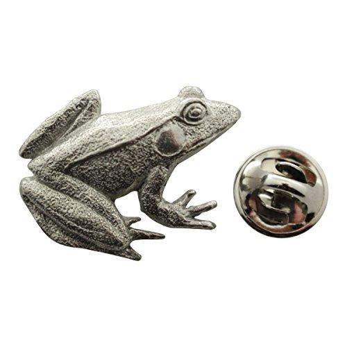 Sarah's Treats & Treasures Frog Pin ~ Antiqued Pewter ~ Lapel Pin
