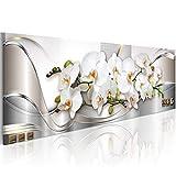 murando - Cuadro de Cristal acrílico Orquidea Flores 135x45 cm Impresión de 1 Pieza Pintura sobre Vidrio Imagen Gráfica Decoracion de Pared - Naturaleza Abstracto b-A-0086-k-b