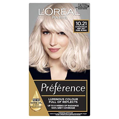 L'Oréal Paris Préférence Permanent Hair Colour - 10.21 Alaska (Intense, Fade-Defying Colour)