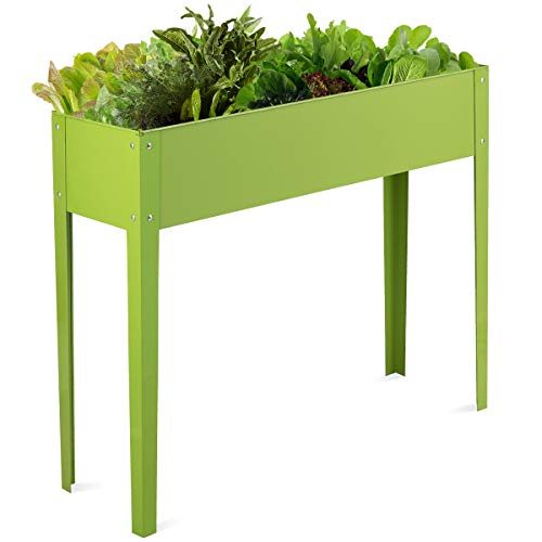 Giantex Raised Garden Bed, Elevated Planter, Metal Plant Box with Legs, Standing Garden...