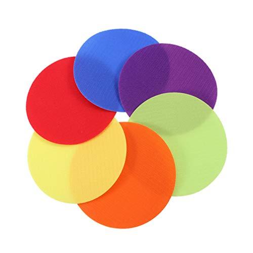 Healifty Carpet Spots Circle Spot Dots Floor Seating Rug Mats for Kids Preschool Classroom 36pcs
